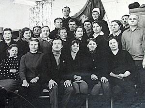 Коллектив Котельничской типографии. Середина 70-х годов прошлого века.